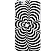 Modern Black & White Geometric Optical Illusion iPhone Case/Skin