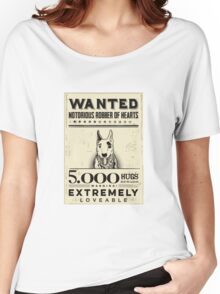 wanted  bull terrier Women's Relaxed Fit T-Shirt