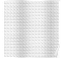 Neutral Grey Tapered Cube Background Poster