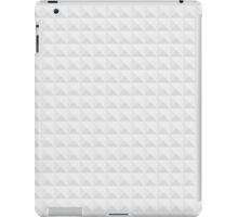 Neutral Grey Tapered Cube Background iPad Case/Skin