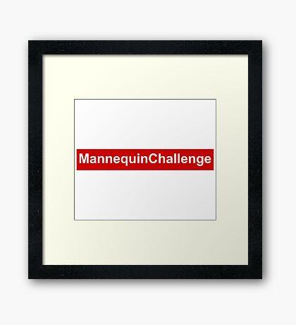 mannequin challenge red box Framed Print