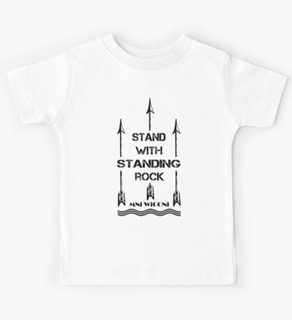 i stand with standing rock - water is life Kids Tee