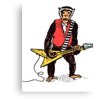Rocker Monkey with Guitar Canvas Print