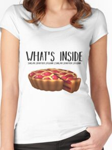 What's Inside - Waitress Women's Fitted Scoop T-Shirt