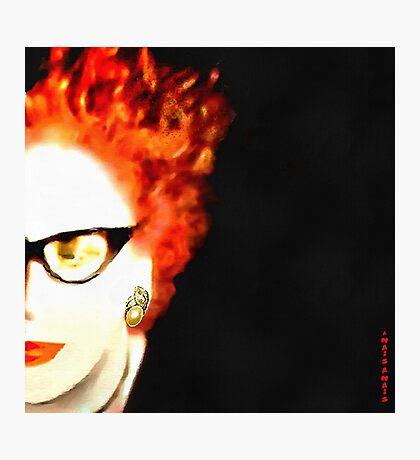 HALF SELF PORTRAIT.... Photographic Print