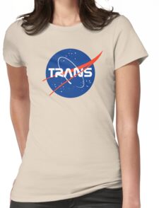 Trans* - Nasa Logo inspired design. Womens Fitted T-Shirt