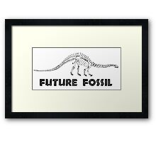 Future Fossil - Paleontology Framed Print