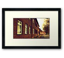 retro photo Framed Print