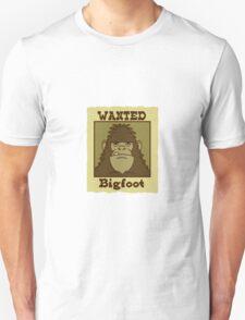 Wanted Bigfoot Unisex T-Shirt