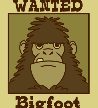 Wanted Bigfoot Sticker