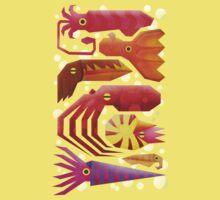 Cephalopods One Piece - Short Sleeve