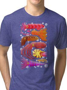 Cephalopods Tri-blend T-Shirt