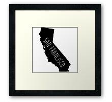 San Francisco (State)  Framed Print