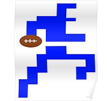 Classic Video Game Football Player Intellivision Poster