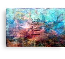 Challenging Fear Rumi Uplifting Quote With Beautiful Underwater Painting Canvas Print