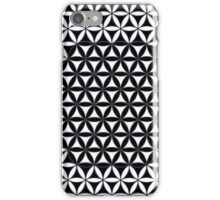 Flower of Life, the classic pattern - black and white iPhone Case/Skin