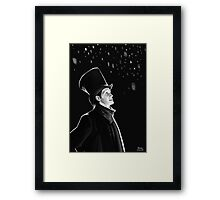 The Doctor in the Snow Framed Print