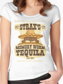 Strax's Memory Worm Tequila Women's Fitted Scoop T-Shirt