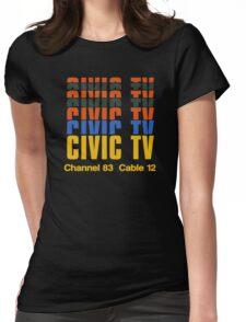 CIVIC TV - VIDEODROME MOVIE Womens Fitted T-Shirt