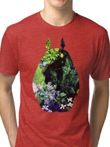 Totoro from Hayao Miyazaki - colorful Tri-blend T-Shirt