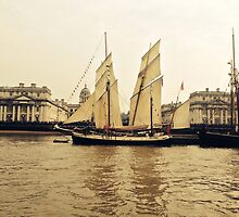 Tall Ship at Greenwich  by frazeled