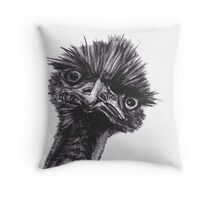 Emu - Curiously Crazy Throw Pillow