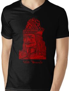 Vlad Dracula Tepes The Impaler Vampire Mens V-Neck T-Shirt