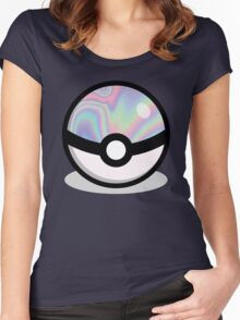Holographic Pokeball Women's Fitted Scoop T-Shirt