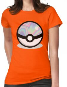 Holographic Pokeball Womens Fitted T-Shirt