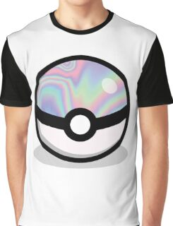 Holographic Pokeball Graphic T-Shirt
