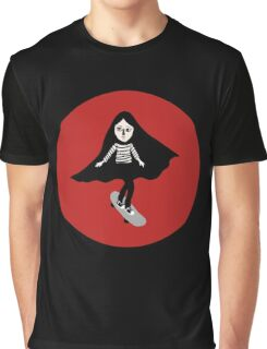 A girl walks home alone at night. Graphic T-Shirt