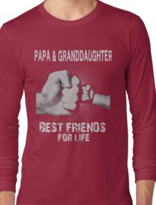 Papa and Granddaughter best friends for life xmas Long Sleeve T-Shirt