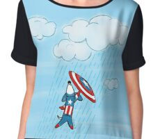 Captain America-ween Chiffon Top
