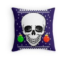 christmas sweater Throw Pillow