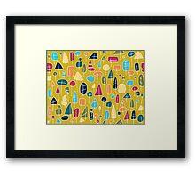Waldmuster - abstrakt Framed Print