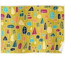 Waldmuster - abstrakt Poster