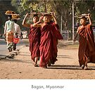 Young monks in Pagan, Myanmar by Jacinthe Brault
