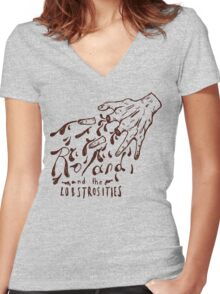 Roland and the Lobstrosities Women's Fitted V-Neck T-Shirt