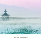 End of the day at Inle Lake by Jacinthe Brault