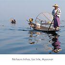 Fisherman on Inle Lake, Myanmar by Jacinthe Brault