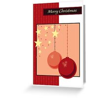Christmas Card Red/Pink Greeting Card