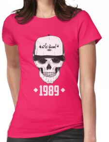 Skull with modern street style attributes. Vector illustration Womens Fitted T-Shirt