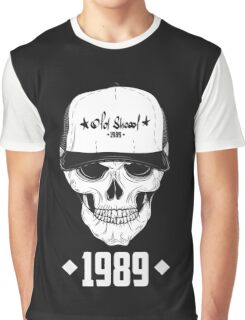 Skull with modern street style attributes. Vector illustration Graphic T-Shirt