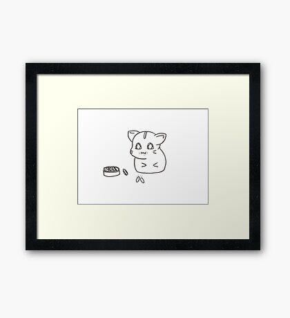 Eating hamster Framed Print