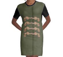 A La Militaire No.3 Graphic T-Shirt Dress