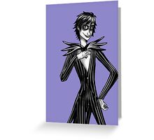 Hiccup as Jack Skellington Greeting Card