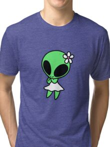 Flower Alien Tri-blend T-Shirt