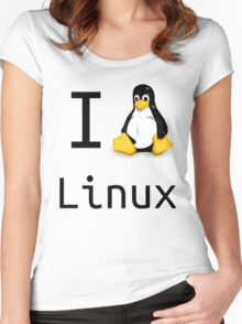 i love linux Women's Fitted Scoop T-Shirt