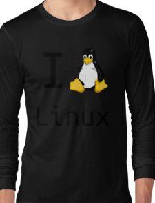 i love linux Long Sleeve T-Shirt