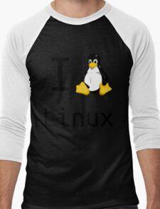 i love linux Men's Baseball ¾ T-Shirt